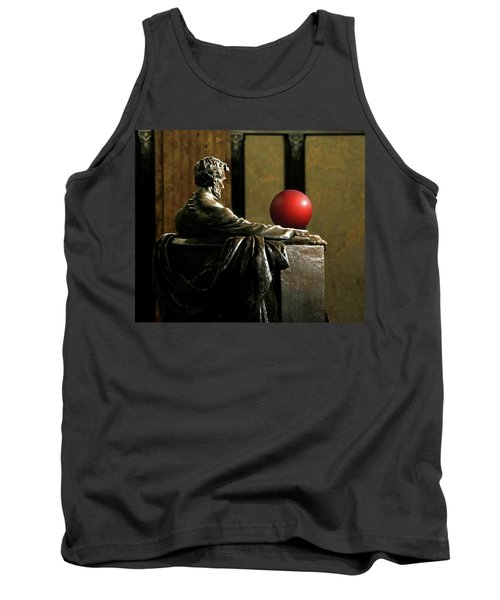 Tank Top featuring the photograph Visiting Lincoln by Christopher McKenzie