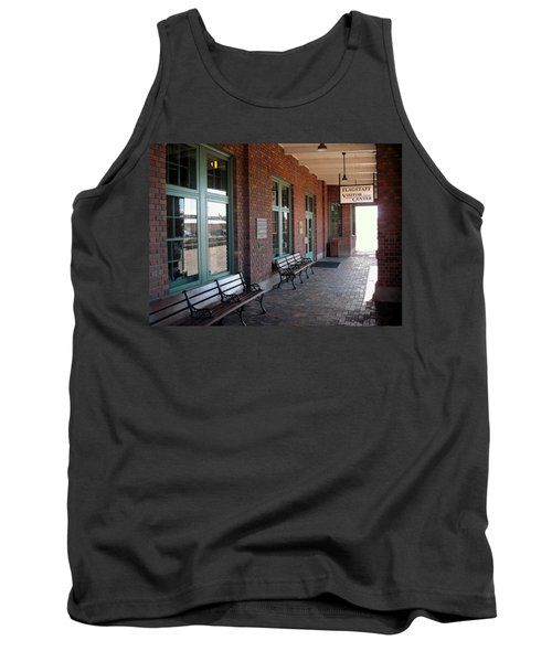 Visitors Center Train Station Tank Top
