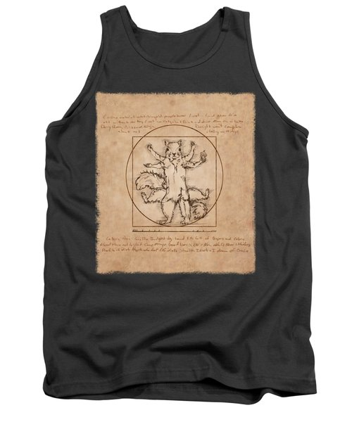 Vitruvian Squirrel Tank Top by Katherine Nutt