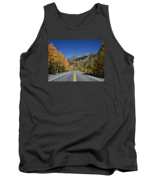 Vivid Fall Colors On The Million-dollar Highway In San Juan County In Colorado  Tank Top