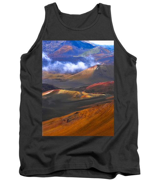 Tank Top featuring the photograph Volcanic Crater In Maui by Debbie Karnes