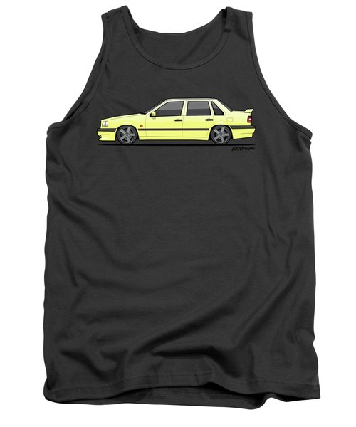 Volvo 850r 854r T5-r Creme Yellow Tank Top by Monkey Crisis On Mars