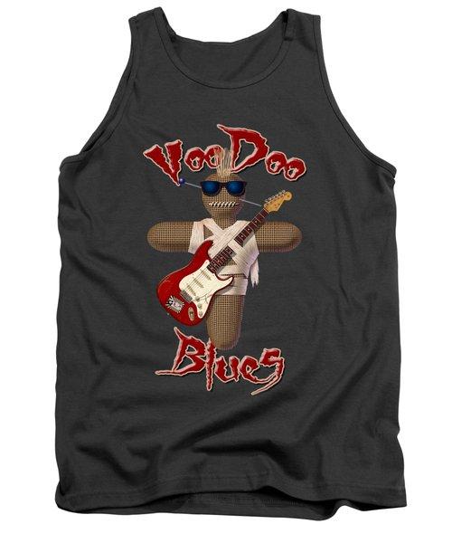 Voodoo Blues Strat T Shirt Tank Top by WB Johnston
