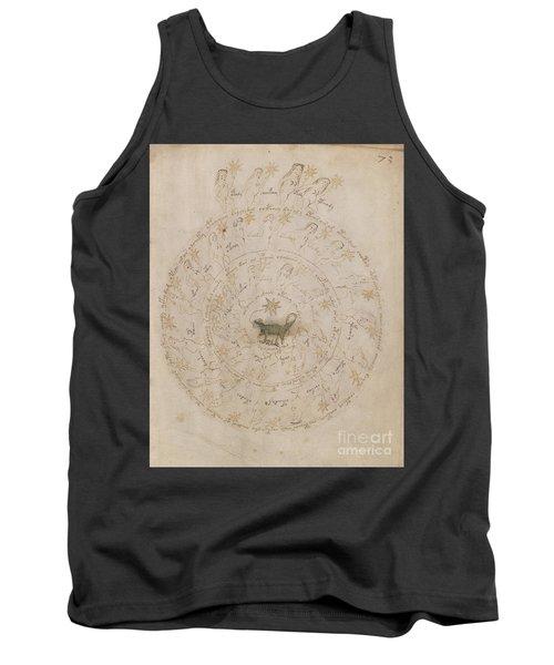 Voynich Manuscript Astro Scorpio Tank Top