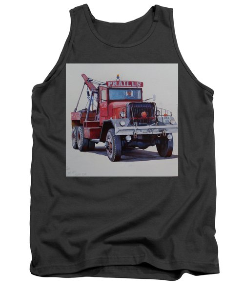 Tank Top featuring the painting Ward La France Wrecker by Mike Jeffries