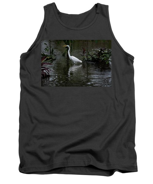 Wading Great Egret Tank Top by James David Phenicie
