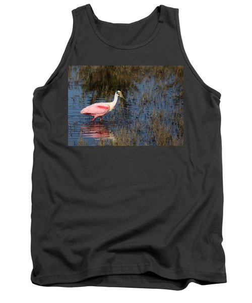 Wading Roseate Spoonbill Tank Top