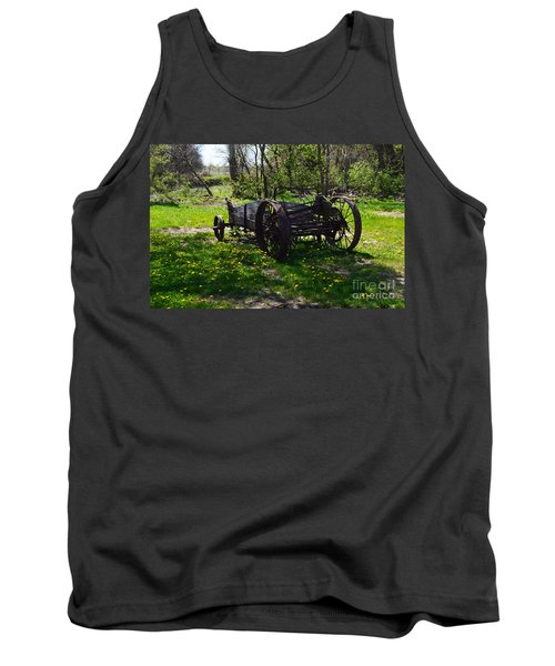 Wagon And Dandelions Tank Top