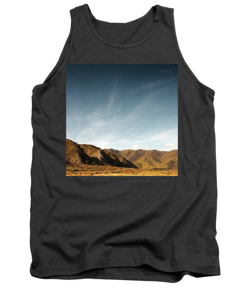 Tank Top featuring the photograph Wainui Hills Squared by Joseph Westrupp
