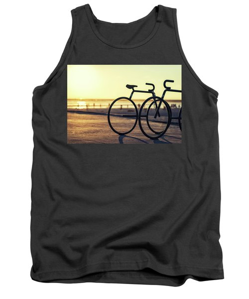 Waiting For A Rider Tank Top by Joseph S Giacalone