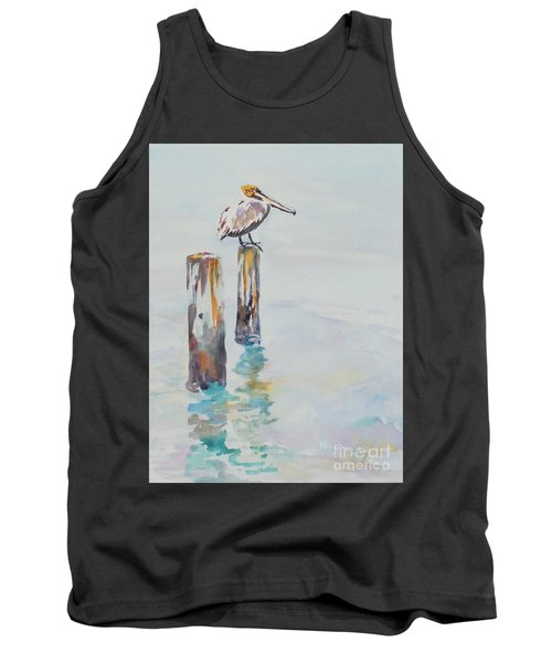 Tank Top featuring the painting Waiting For Lunch by Mary Haley-Rocks