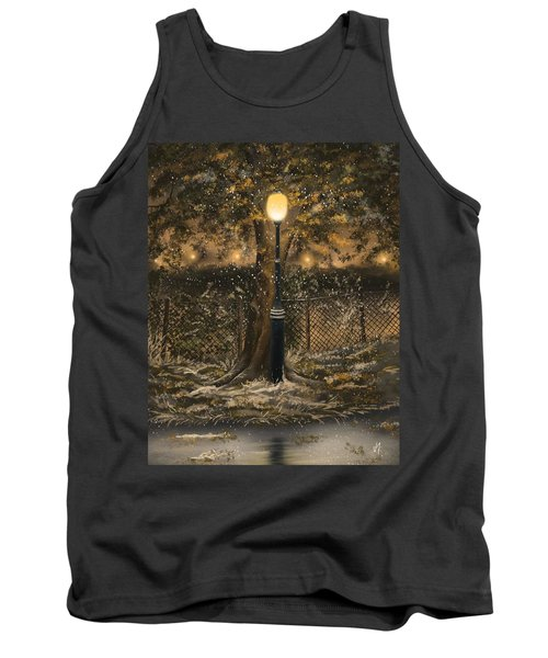 Tank Top featuring the painting Waiting For The Snow by Veronica Minozzi