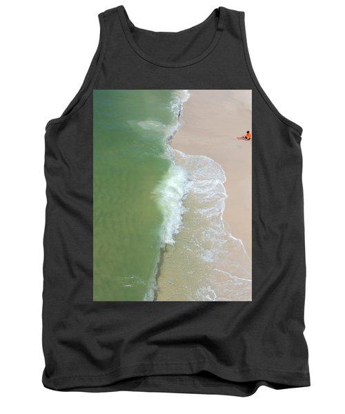 Waiting For The Wave Tank Top by Teresa Schomig