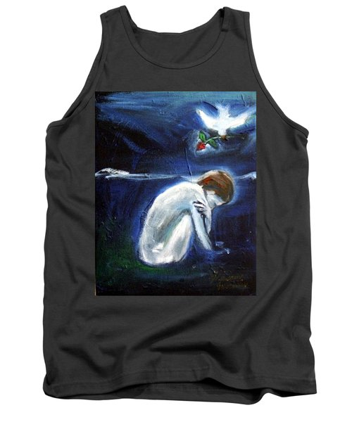 Tank Top featuring the painting Waiting by Winsome Gunning