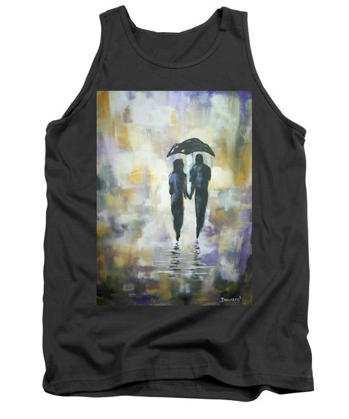 Walk In The Rain #3 Tank Top by Raymond Doward