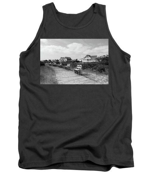 Walk Through The Dunes In Black And White Tank Top