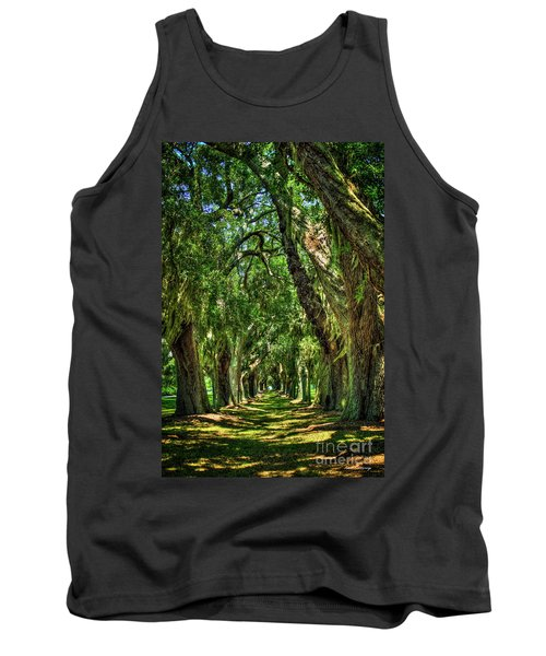 Tank Top featuring the photograph Walk With Me Avenue Of Oaks St Simons Island Art by Reid Callaway