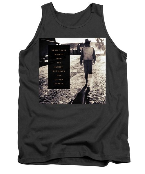 Walked Into The Sunset But Not Out Of Our Heart.  Tank Top by Michele Carter