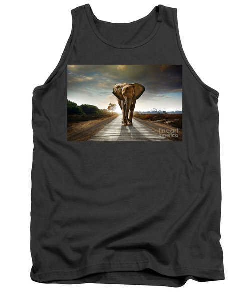 Walking Elephant Tank Top