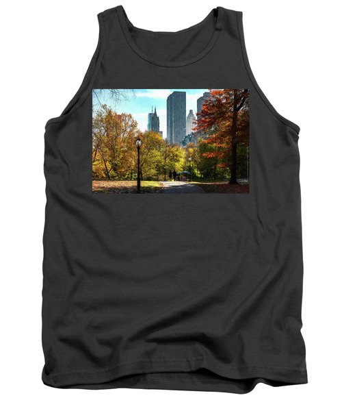 Walking In Central Park Tank Top