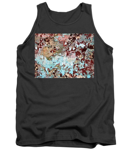 Tank Top featuring the photograph Wall Abstract 128 by Maria Huntley