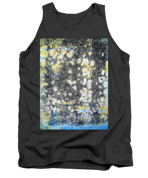 Wall Abstract 162 Tank Top by Maria Huntley