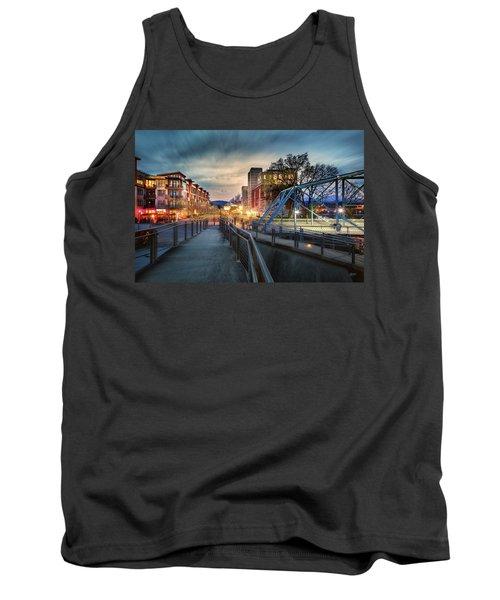 Walnut Street Circle Sunset Tank Top by Steven Llorca