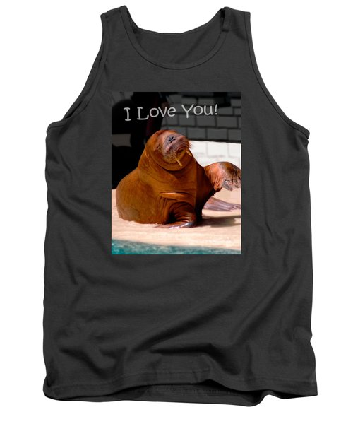 Tank Top featuring the photograph Walrus Loves You by Bob Pardue