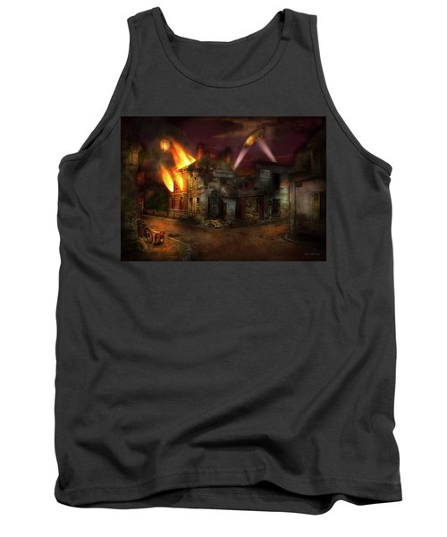 Tank Top featuring the photograph War - Wwi - Not Fit For Man Or Beast 1910 by Mike Savad