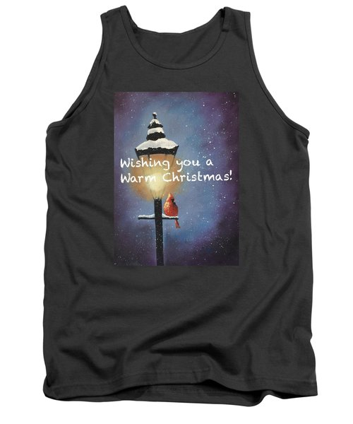 Tank Top featuring the painting Warm Christmas by Sharon Mick