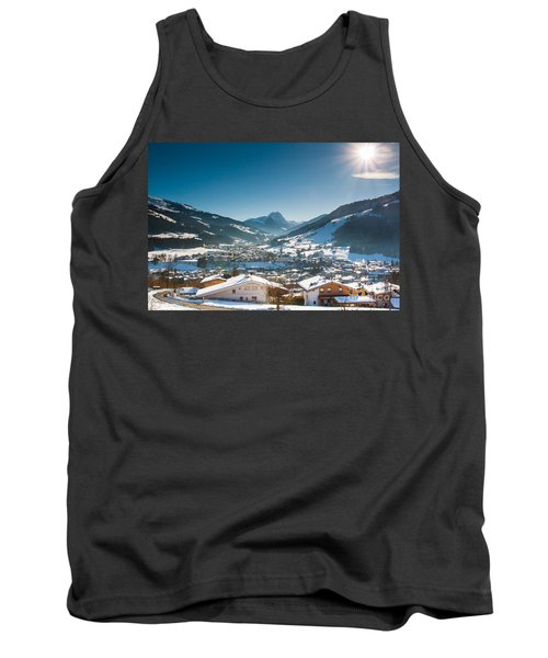 Warm Winter Day In Kirchberg Town Of Austria Tank Top
