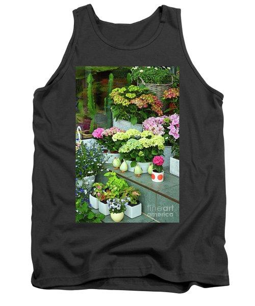 Warnemunde Flower Shop Tank Top by Eva Kaufman