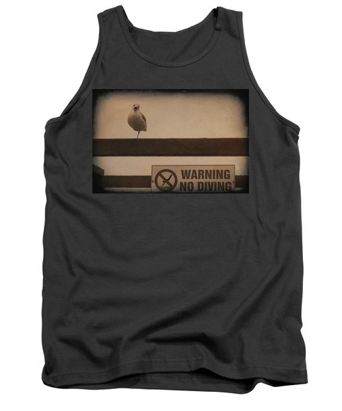 Warning No Diving 2 Tank Top