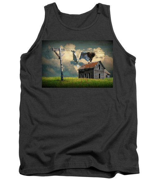 Wash On The Line By Abandoned House Tank Top