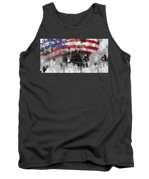 Tank Top featuring the painting Washington Dc Building 01a by Gull G