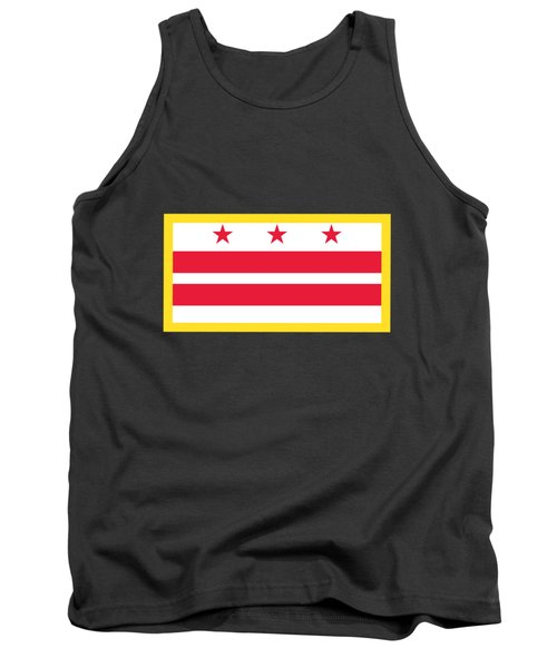 Washington, D.c. Flag Tank Top by Frederick Holiday