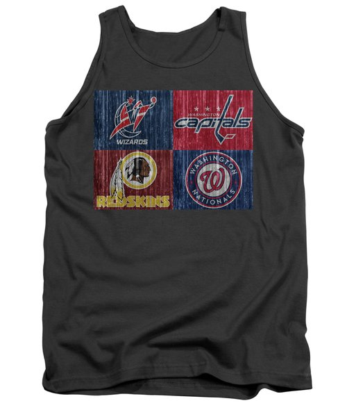 Tank Top featuring the mixed media Washington Dc Sports Teams by Dan Sproul