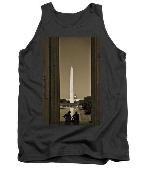 Washington Monument And Capitol #4 Tank Top