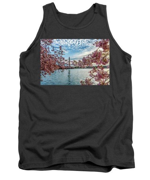 Washington Monument Through Cherry Blossoms Tank Top