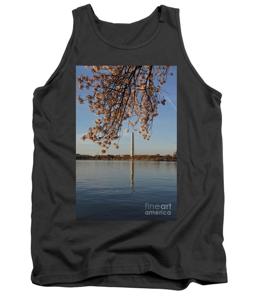 Washington Monument With Cherry Blossoms Tank Top