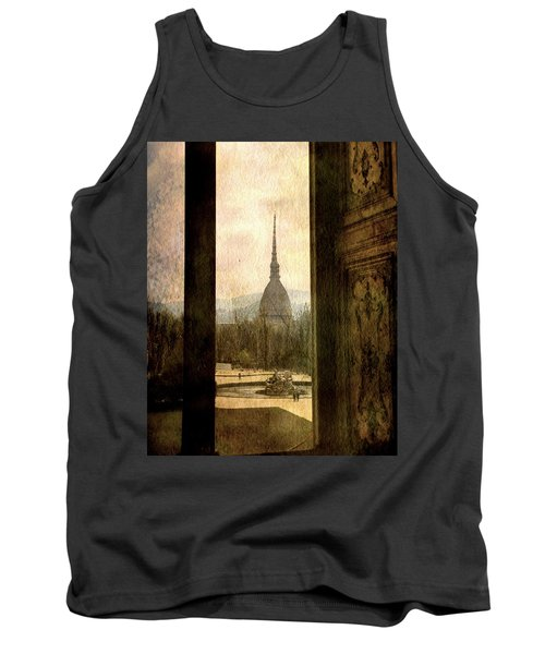 Watching Antonelliana Tower From The Window Tank Top by Vittorio Chiampan