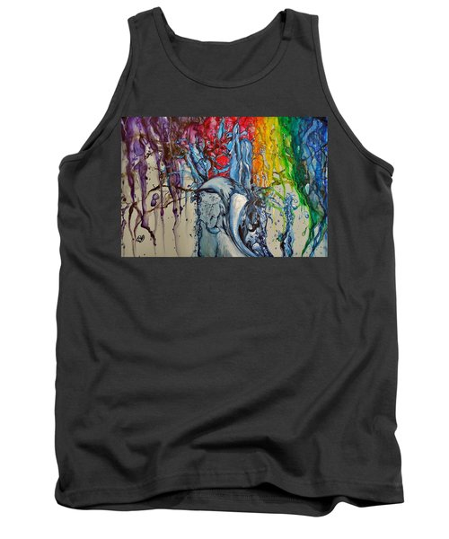 Water And Colors Tank Top by Raymond Perez