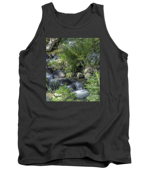 Water And Wildflowers Tank Top by Nancy Marie Ricketts