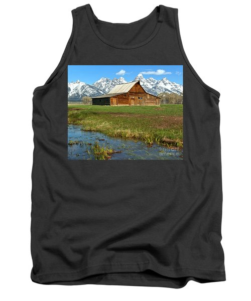 Water By The Barn Tank Top by Adam Jewell