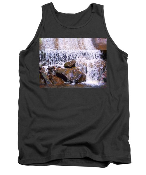Tank Top featuring the photograph Water Cascade by Roberta Byram