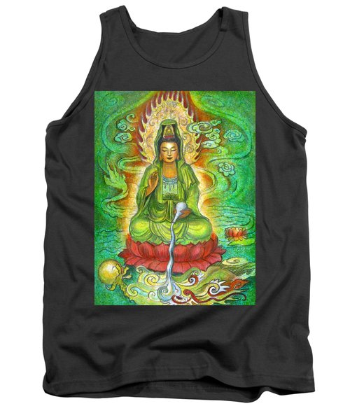 Water Dragon Kuan Yin Tank Top by Sue Halstenberg
