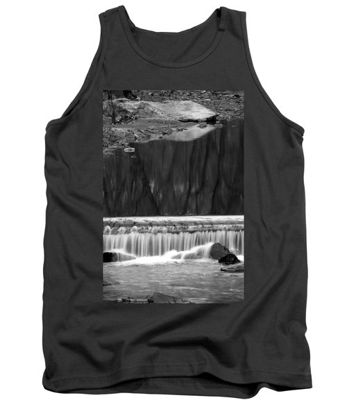 Tank Top featuring the photograph Water Fall And Reflexions by Dorin Adrian Berbier