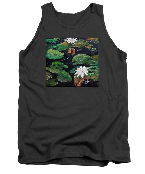 Tank Top featuring the painting water lilies II by Marilyn Zalatan