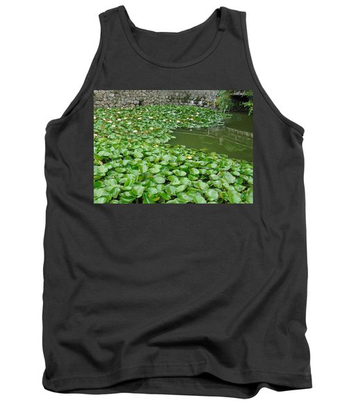 Water Lilies In The Moat Tank Top by Susan Lafleur