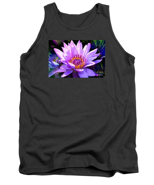 Water Lily In Purple Tank Top